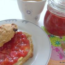 Jordbær-rabarber marmelade