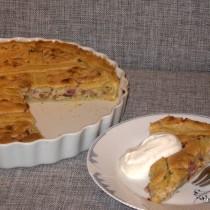 Rabarbertærte m/sprødt låg
