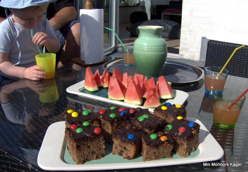 Banankage m/chokolade og skumfiduser
