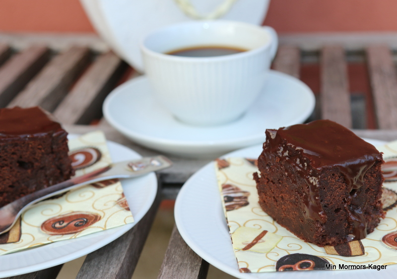 Chokoladekage med marsbar og karamel