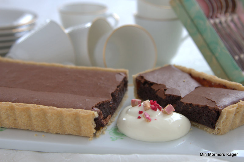 Amerikansk chokoladetærte
