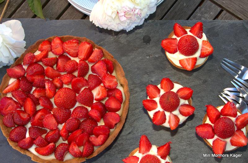 Mini jordbærtærter