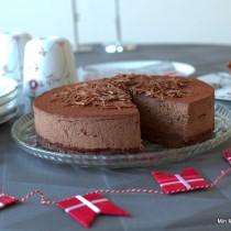 Chokoladekage med chokolademousse
