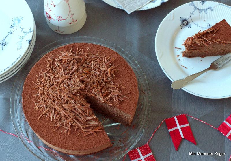 Chokolademousse-kage