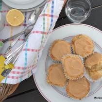 Citronmuffins med karamelglasur